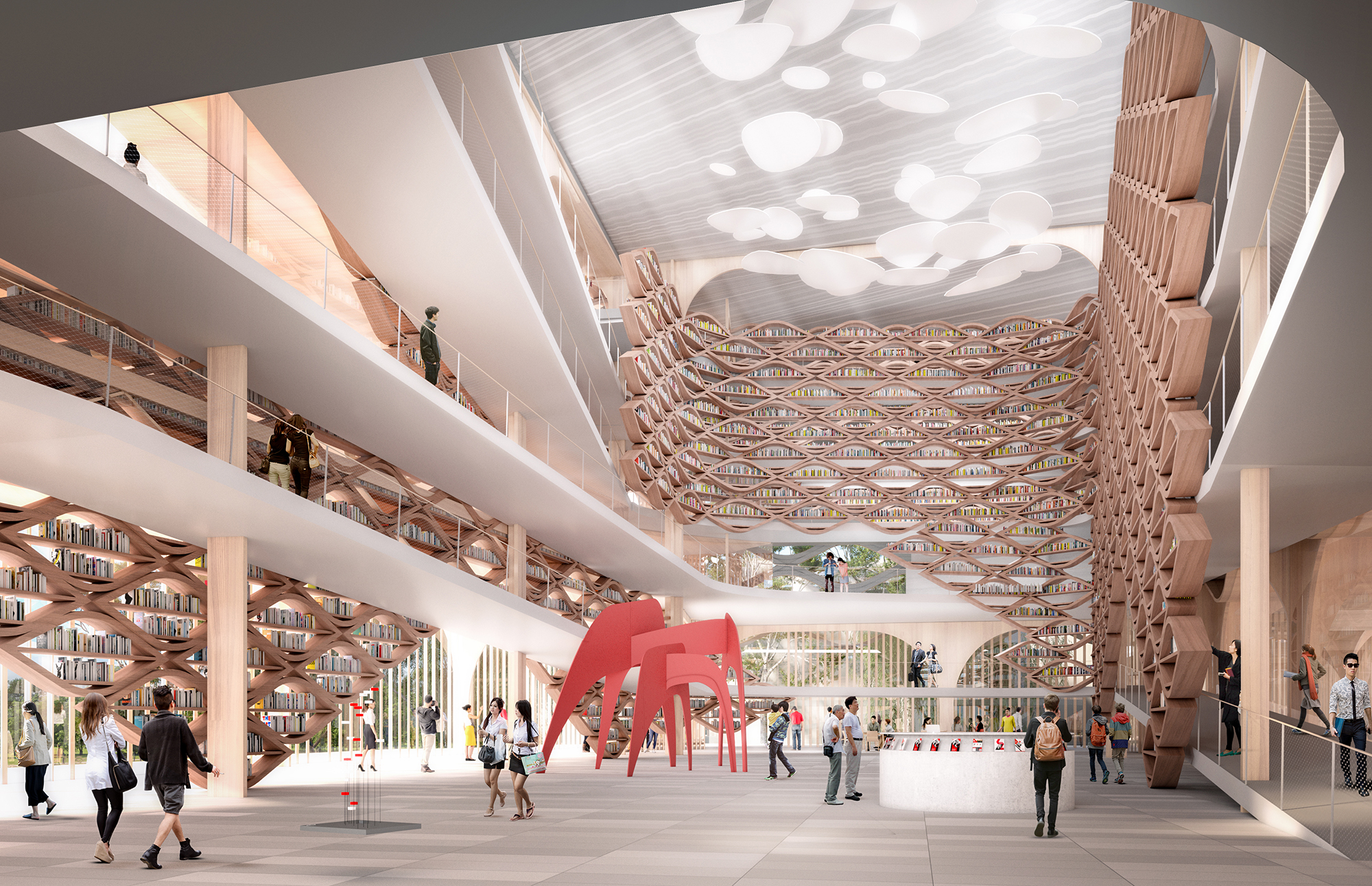 Songdo Library Competition Entry / Manuel A. Monteserín Lahoz